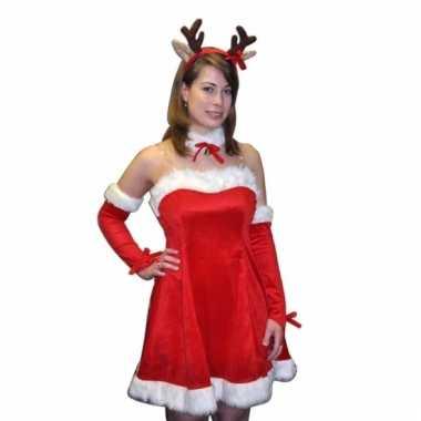 Sexy fluwelen kerstjurkje dames