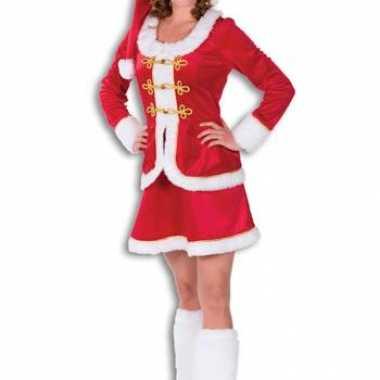 Sexy kerstjurkje dames rood fluweel