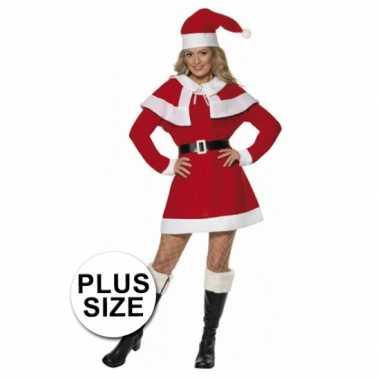Sexy kerstjurkje dames rood grote maat