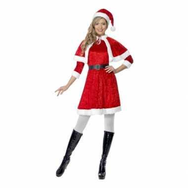 Sexy rode kerstjurkje met cape